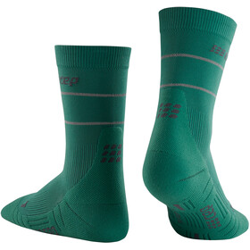 cep Reflective Mid Cut Socks Women, green